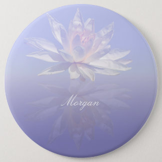 Water Lily Reflected 6 Cm Round Badge