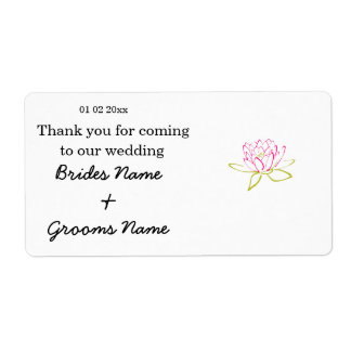 Water Lily Wedding Souvenirs Keepsakes Giveaways