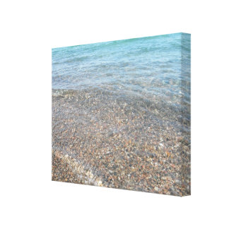 Water rolling in canvas print
