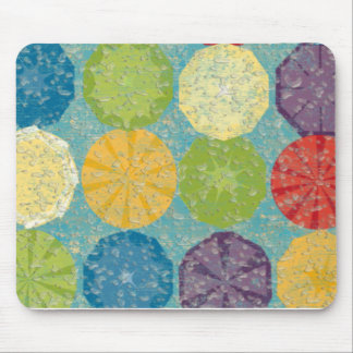 Water splashed colorful fruity summer! mousepads