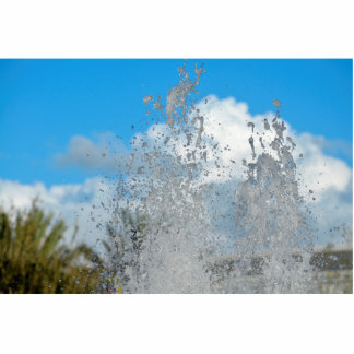 water splashing against blue sky photo cut out