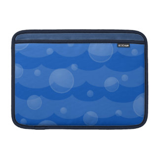 Water Waves and Bubbles Macbook Air Sleeve