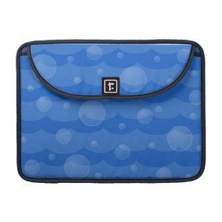 Water Waves and Bubbles Macbook Pro Sleeve