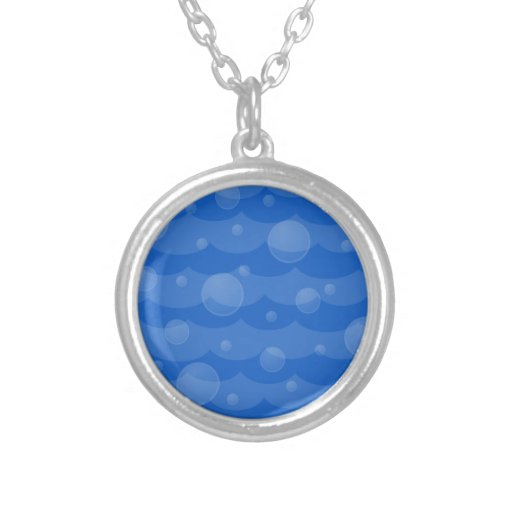 Water Waves and Bubbles Necklace