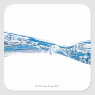 Water waves and bubbles square sticker