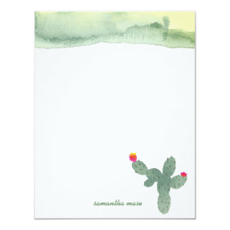 Watercolor Abstract Cactus Thank You Note Card 11 Cm X 14 Cm Invitation Card