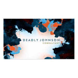 Watercolor Abstract Elegant Cool Blue Sea Nature Pack Of Standard Business Cards
