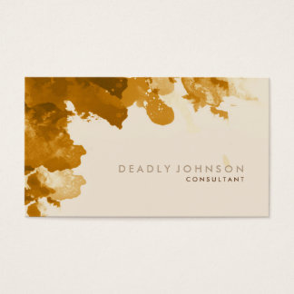 Watercolor Abstract Elegant Cool  Brown