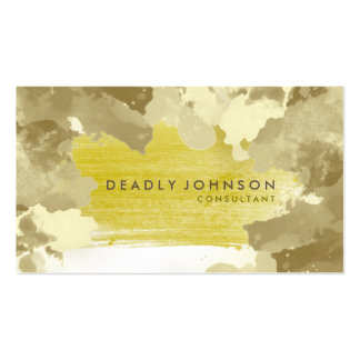 Watercolor Abstract Elegant Cool Yellow Nature Pack Of Standard Business Cards