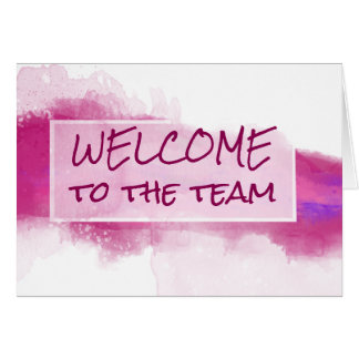 Watercolor Abstract Welcome to the Team Note Card