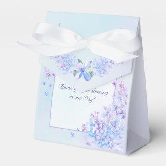 Watercolor Blue Purple Lilac Flower Favour Box