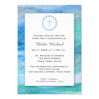 Watercolor Blues, Religious Card