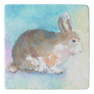 Watercolor Bunny Trivet