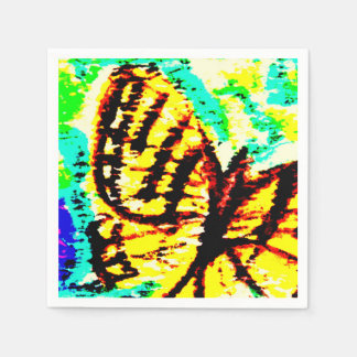 Watercolor  Butterfly Paper Serviettes