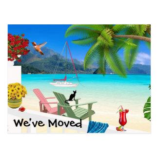 Watercolor Change of Address Postcard