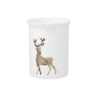 Watercolor Deer Design Pitcher