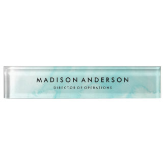 Watercolor Desk Name Plate