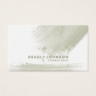 Watercolor Elegant Simple Splatter Abstract Business Card
