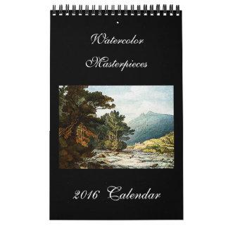Watercolor Fine Art 2016 Beautiful Wall Calendar