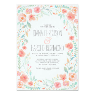 Watercolor Floral Botanical Garden Wedding Invites