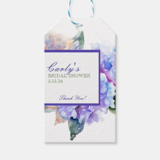 Watercolor Floral Lavender Gift Tags