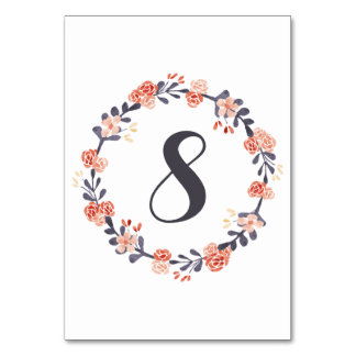 Watercolor Floral Table Numbers Table Cards