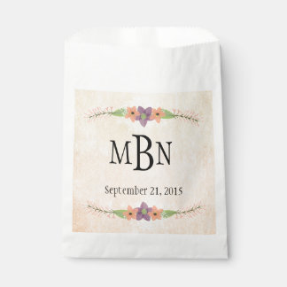Watercolor Floral Wedding Gift Bags Favour Bags