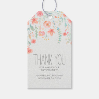 Watercolor Floral Wedding Gift Tags