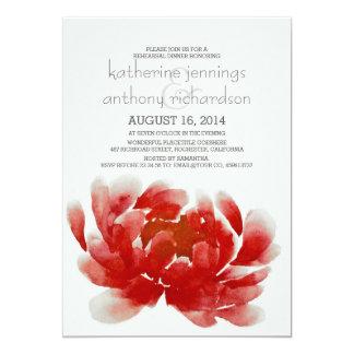 watercolor flower blossom rehearsal dinner card