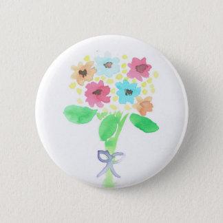 Watercolor Flower Bouquet Button