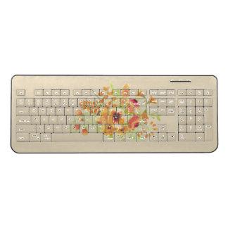 watercolor flower Custom Wireless Keyboard