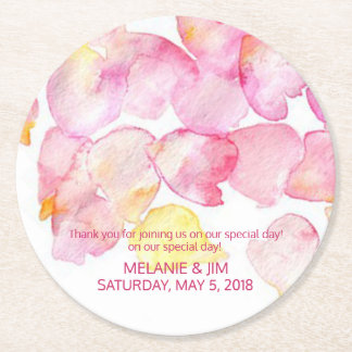 Watercolor Flowers Coaster