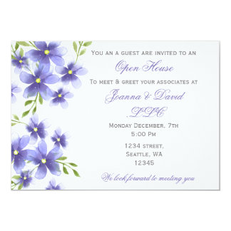 Watercolor Flowers Corporate party Invitation