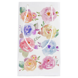 Watercolor Flowers Gift Bag