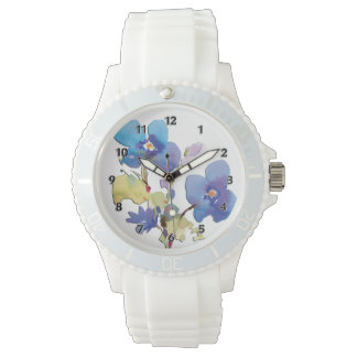 Watercolor Flowers Watch