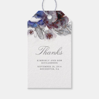 Watercolor Flowers Wedding Gift Tags