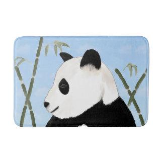 Watercolor Giant Panda and Bamboo Bath Mat Bath Mats