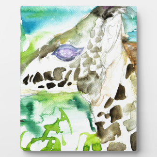 watercolor GIRAFFE .1 Plaque