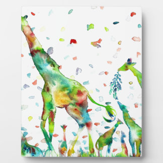 watercolor GIRAFFE .2 Plaque