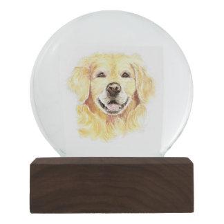 Watercolor Golden Retriever Dog pet animal Snow Globes