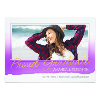 Watercolor Graduation Announcement Orchid Too