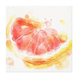 Watercolor Grapefruit Gallery Wrap Canvas