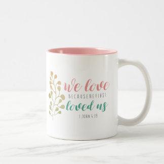 Watercolor Herb Christian Bible verse mug