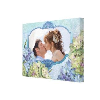 Watercolor Hydrangea Floral - Customize Canvas Print