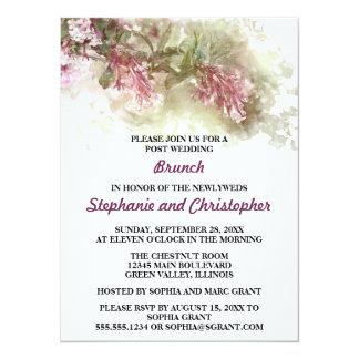 Watercolor Jasmine Hosted Post Wedding Brunch Card