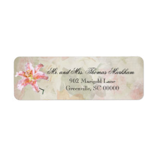 Watercolor Lilies Personalised Address Labels