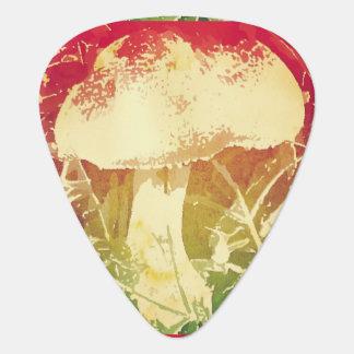 Watercolor Mushroom Guitar Picks