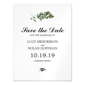 Watercolor Olive Orchard | Save the Date Magnetic Invitations