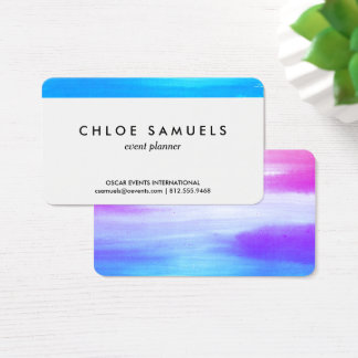 Watercolor Painterly Business Card