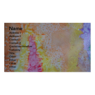 Watercolor Paints Abstract Business Cards